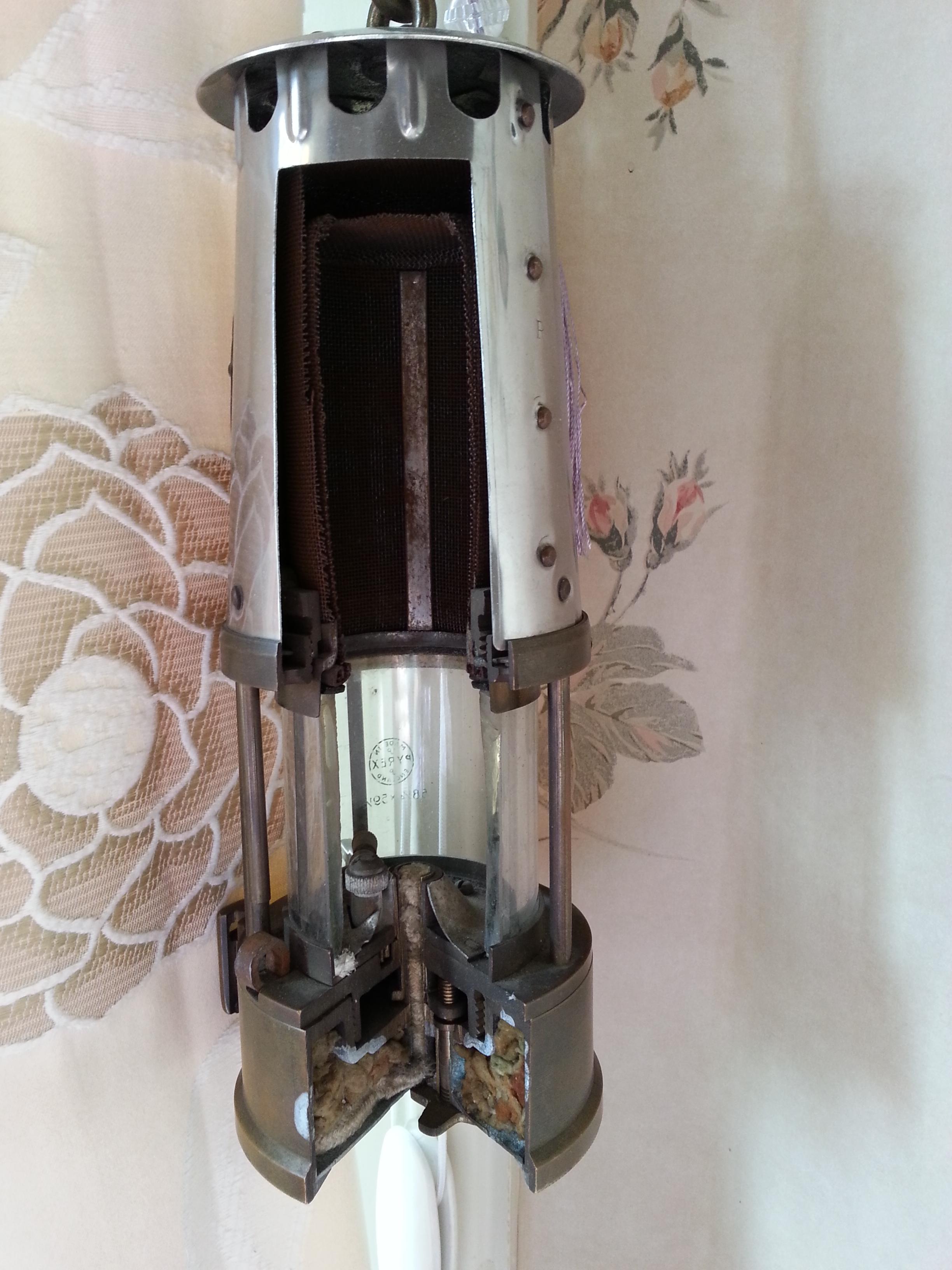 Mining lamp cutaway