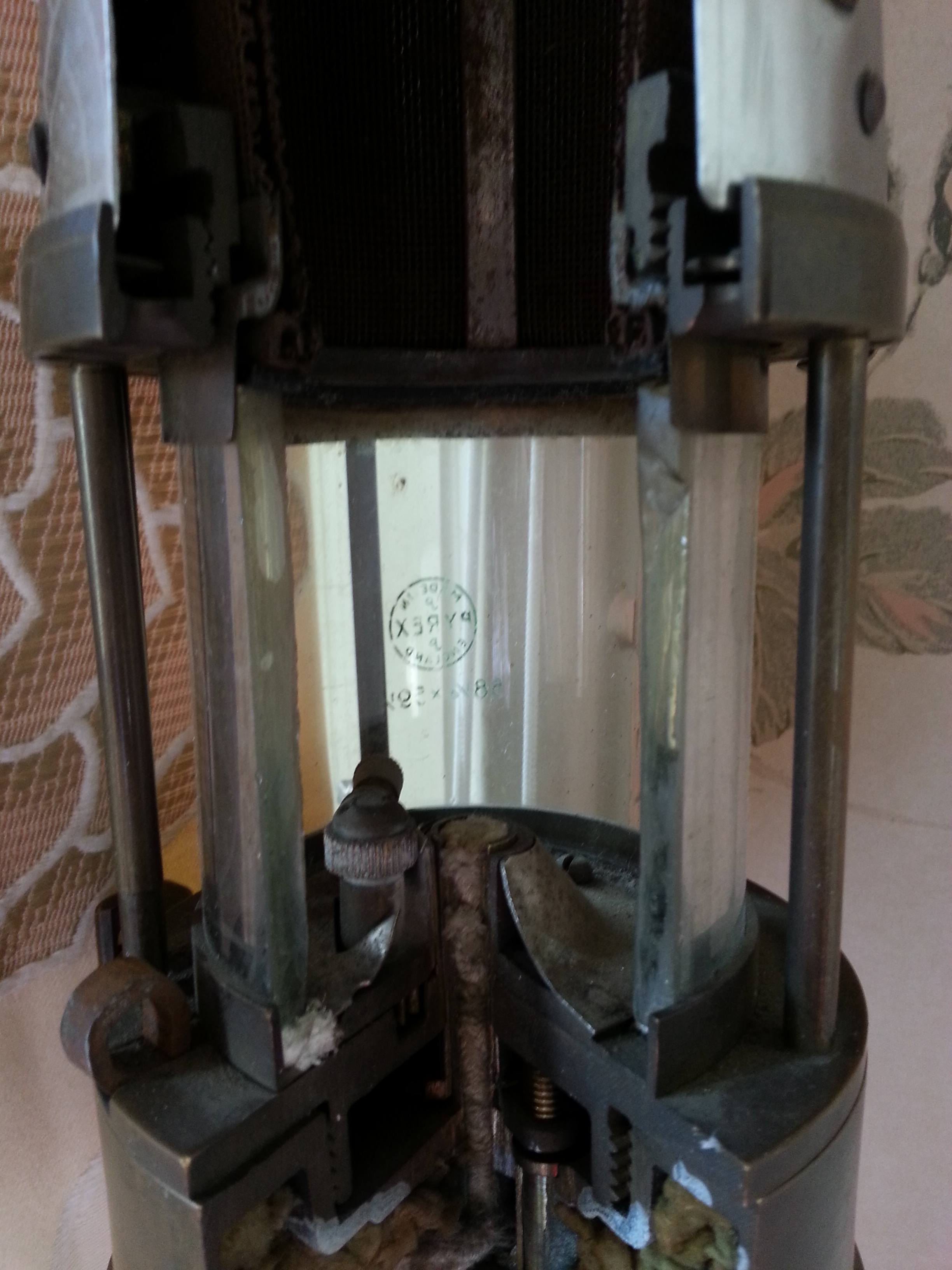 Mining lamp middle cutaway