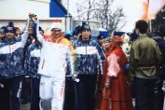 Transporting the Olympic Flame