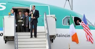 Emigrant Flame arriving in Dublin