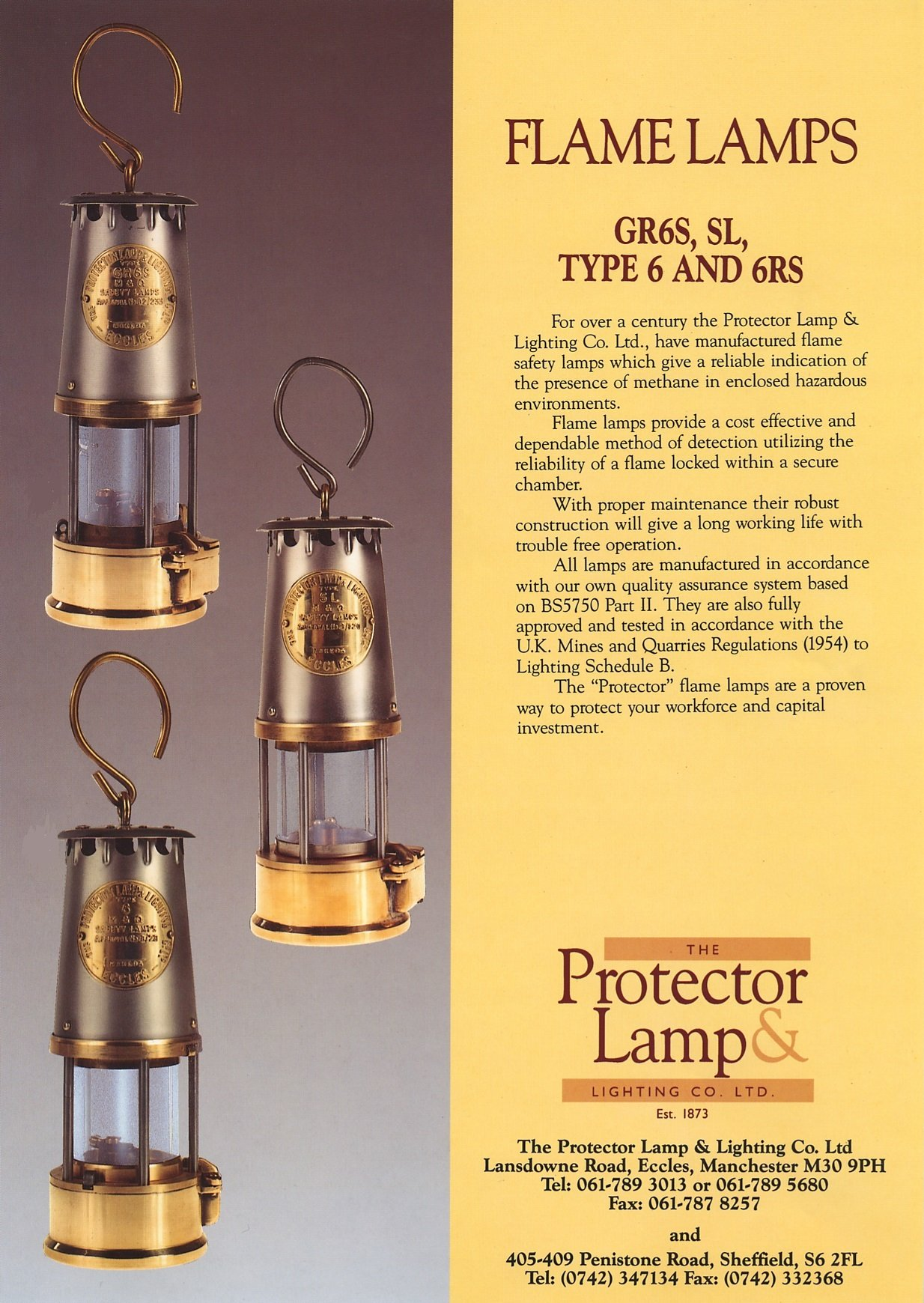 Flame Safety Lamp Miners Lamp Atex M2 Garforth Gr6s